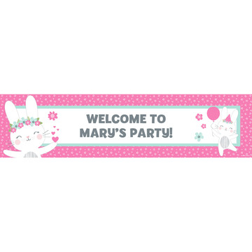 Birthday Bunny Personalized Banner (Each)