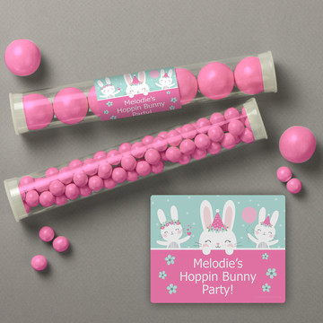 Birthday Bunny Personalized Candy Tubes (12 Count)