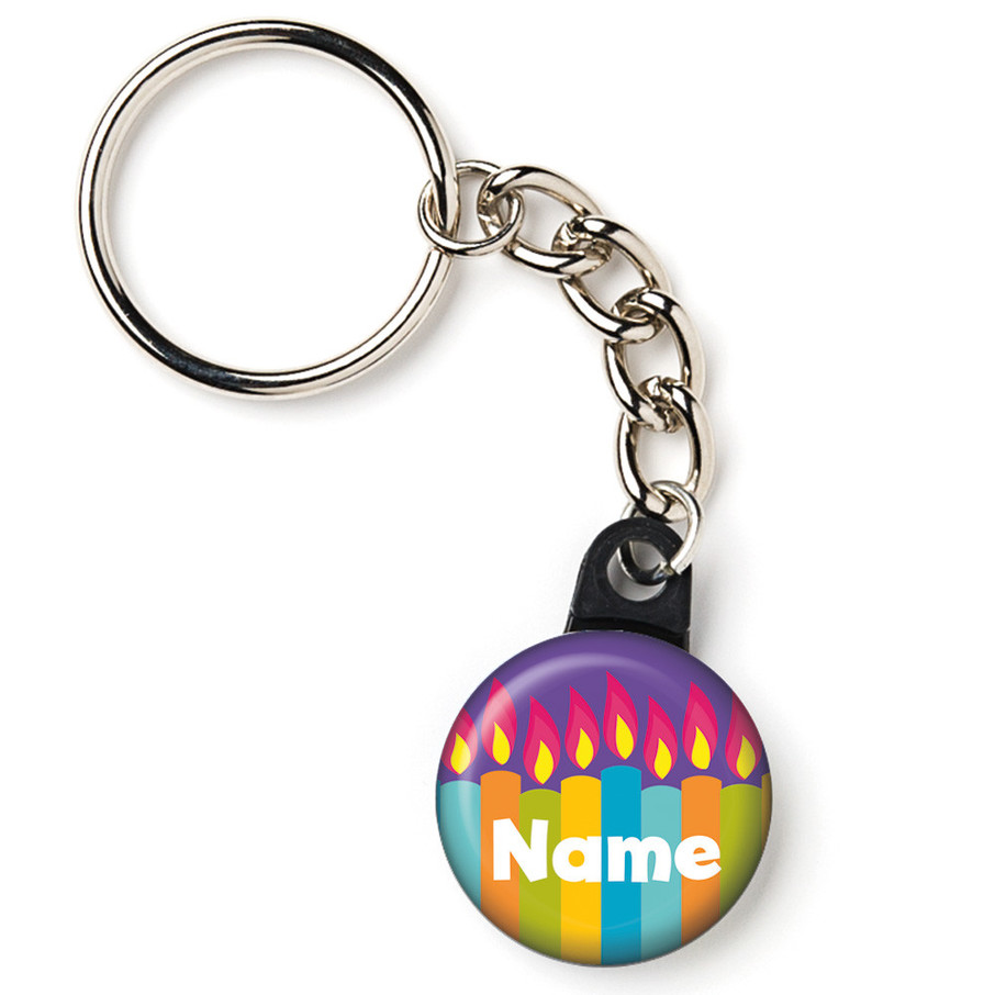"""View larger image of Birthday Burst Personalized 1"""" Mini Key Chain (Each)"""