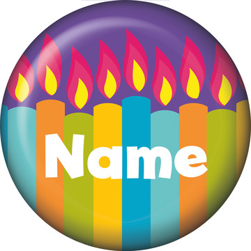 Birthday Burst Personalized Mini Magnet (Each)