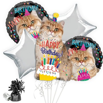 Birthday Cat Balloon Bouquet Kit