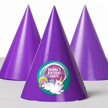 Birthday Celebration Personalized Party Hats (8 Count)