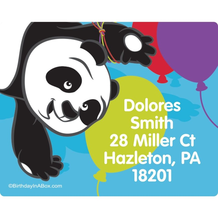 View larger image of Birthday Panda Personalized Address Labels (Sheet of 15)