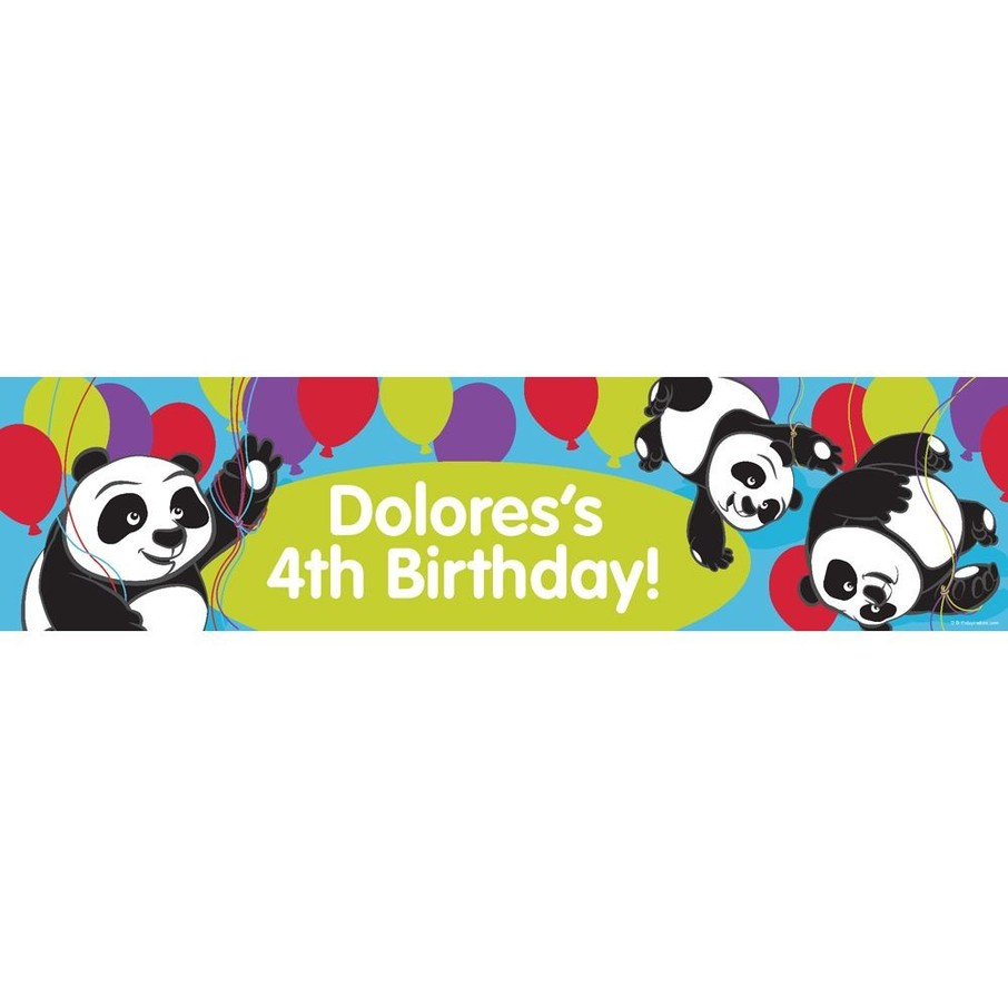 View larger image of Birthday Panda Personalized Banner (Each)