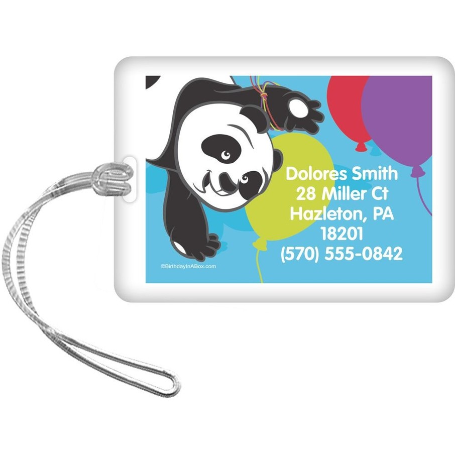 View larger image of Birthday Panda Personalized Luggage Tag (Each)