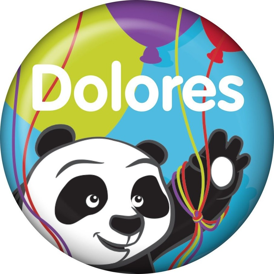 View larger image of Birthday Panda Personalized Mini Button (Each)
