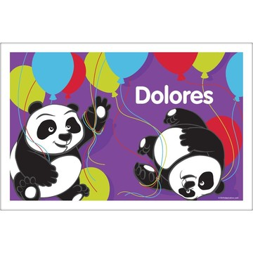 Birthday Panda Personalized Placemat (Each)