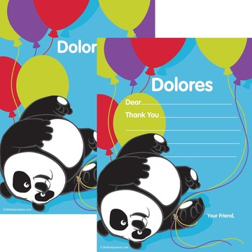 Birthday Panda Personalized Thank You (Each)