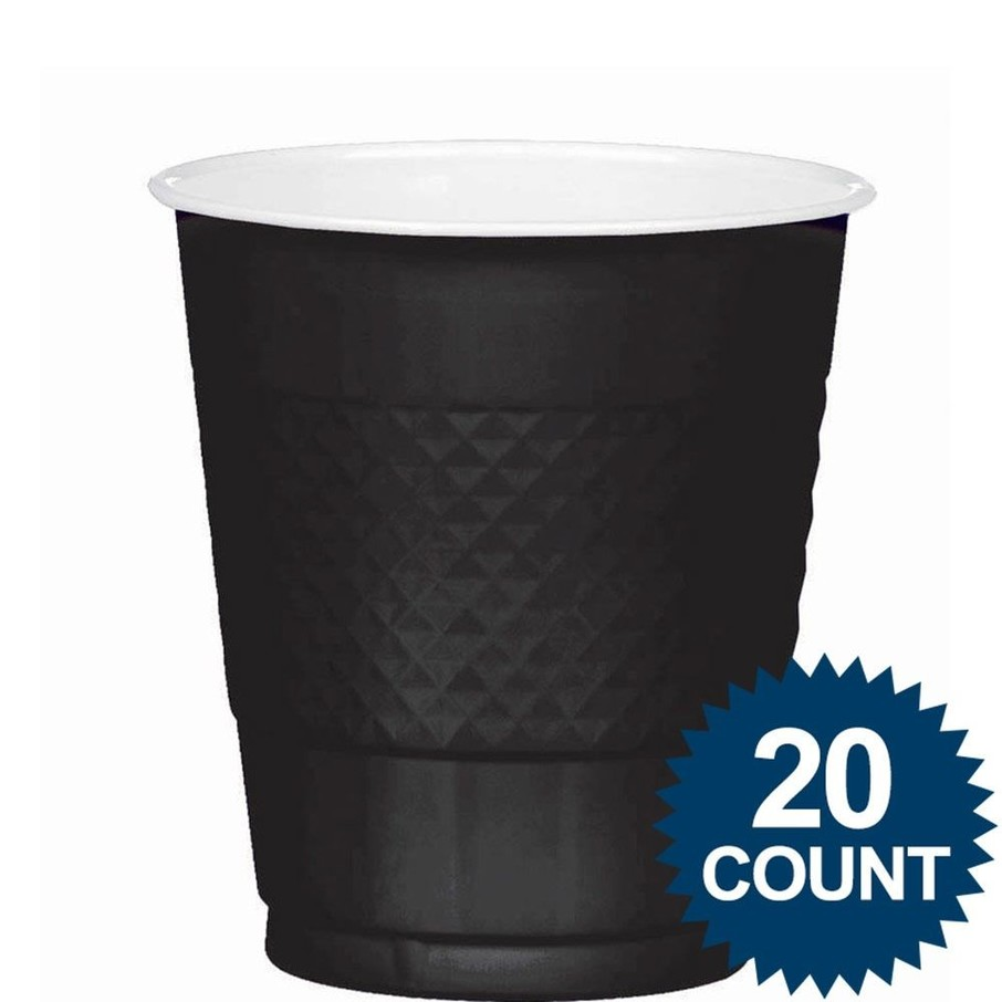 View larger image of Black 12oz. Plastic Cups (20 Pack)