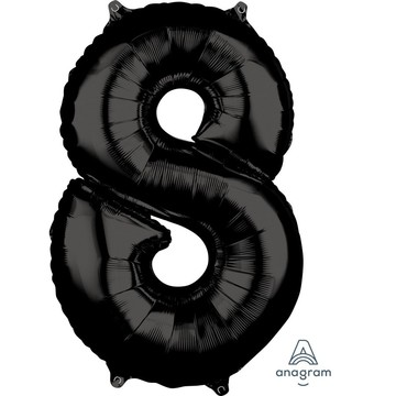 Black 26 Number Foil Balloon - 8
