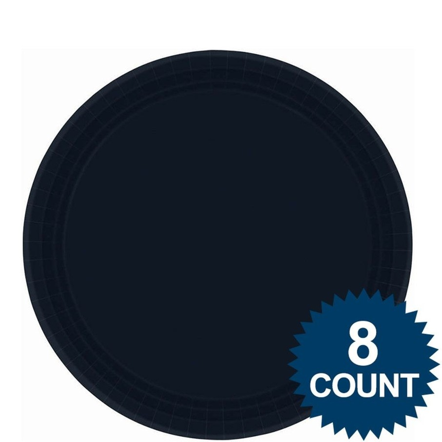 "View larger image of Black 9"" Paper Luncheon Plates (8 Pack)"