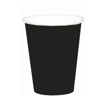 Black 9oz. Paper Cups (8 Pack)