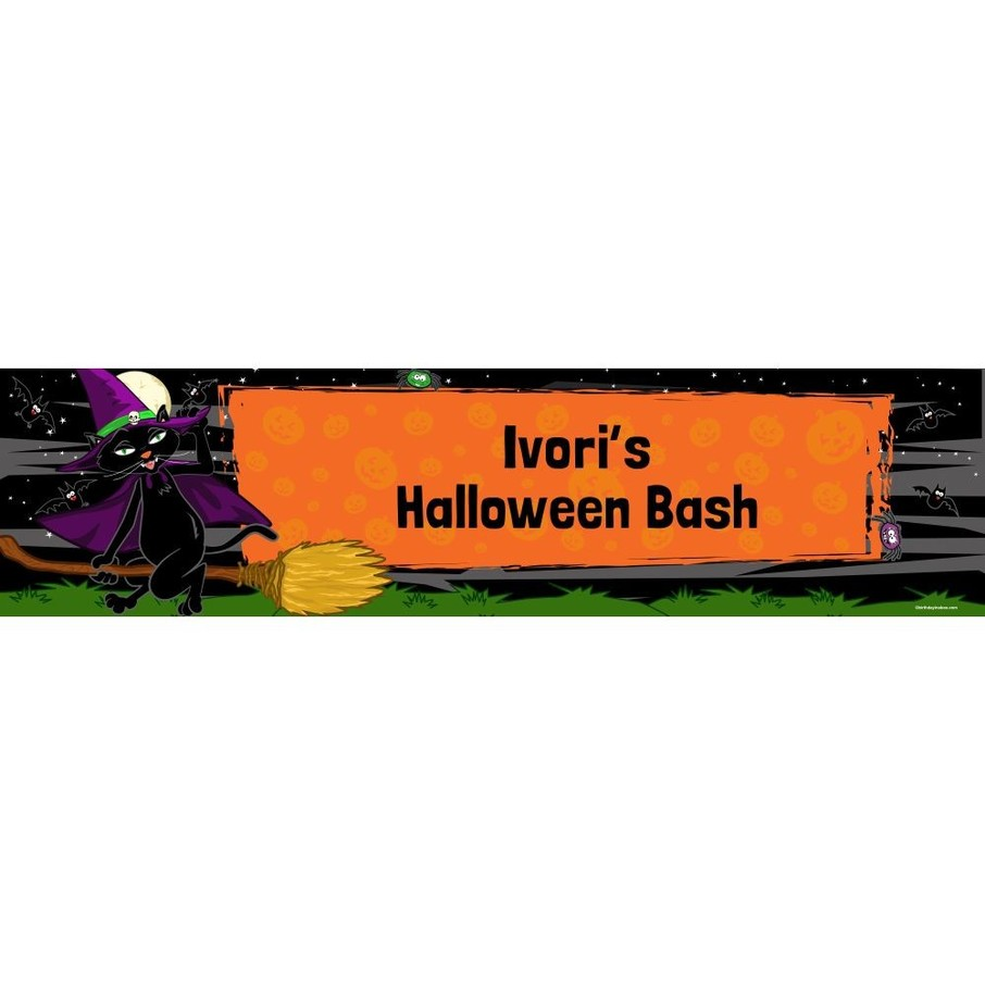 View larger image of Black Cat Personalized Banner (Each)