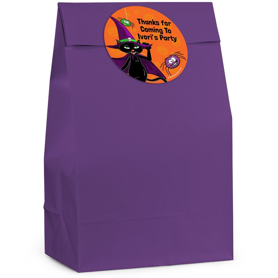 View larger image of Black Cat Personalized Favor Bag (12 Pack)