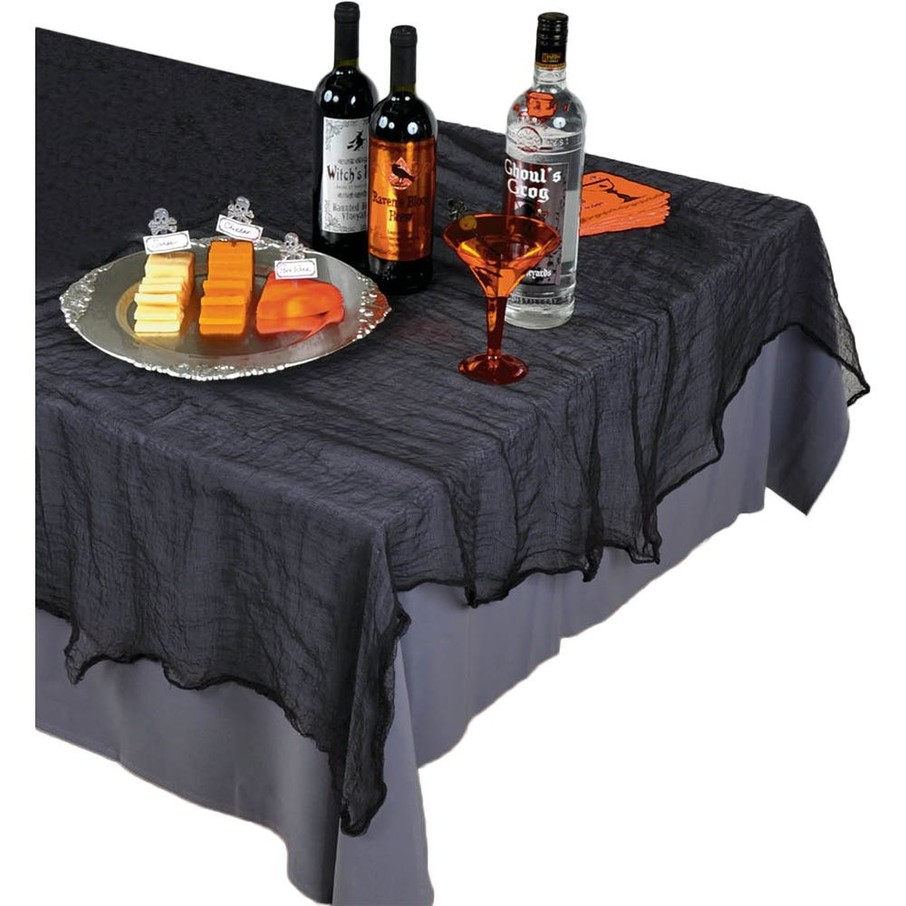 View larger image of Black Cheesecloth Table Cover (Each)
