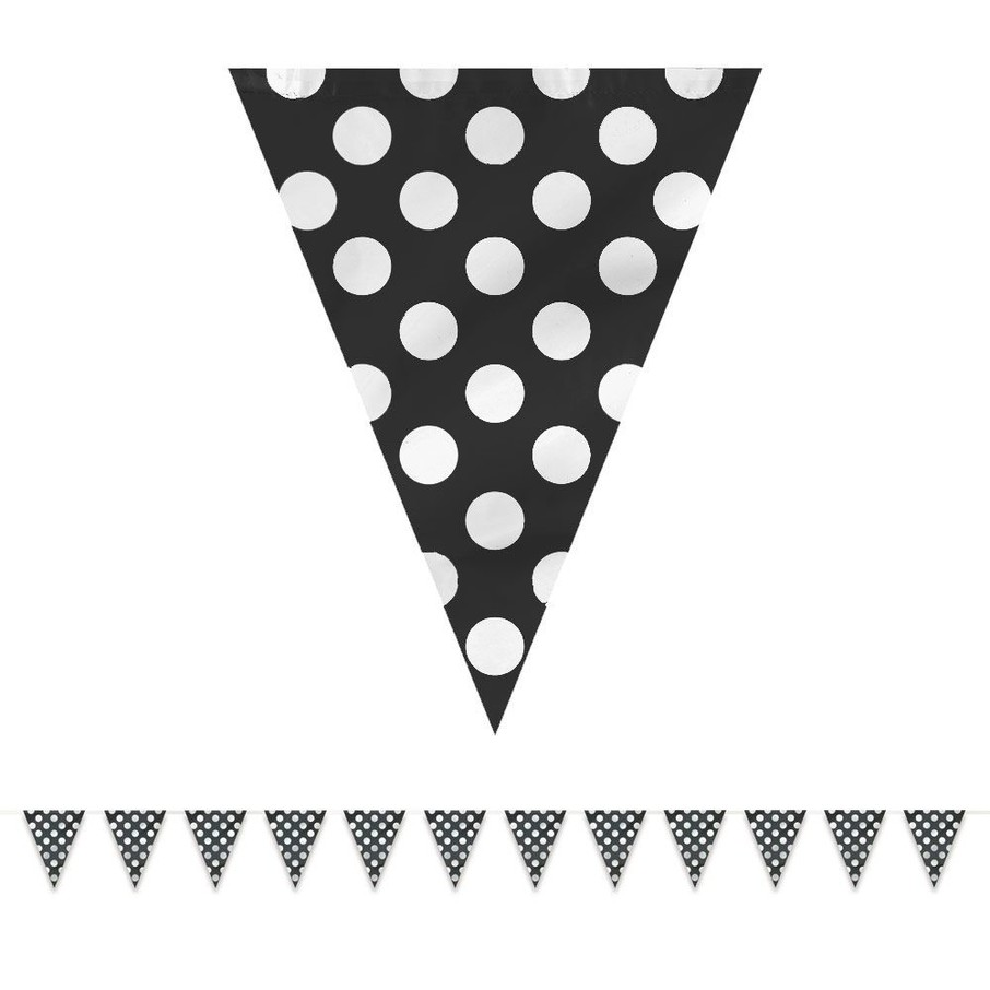 View larger image of Black Dots 12' Flag Banner Decoration (Each)