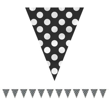 Black Dots 12' Flag Banner Decoration (Each)