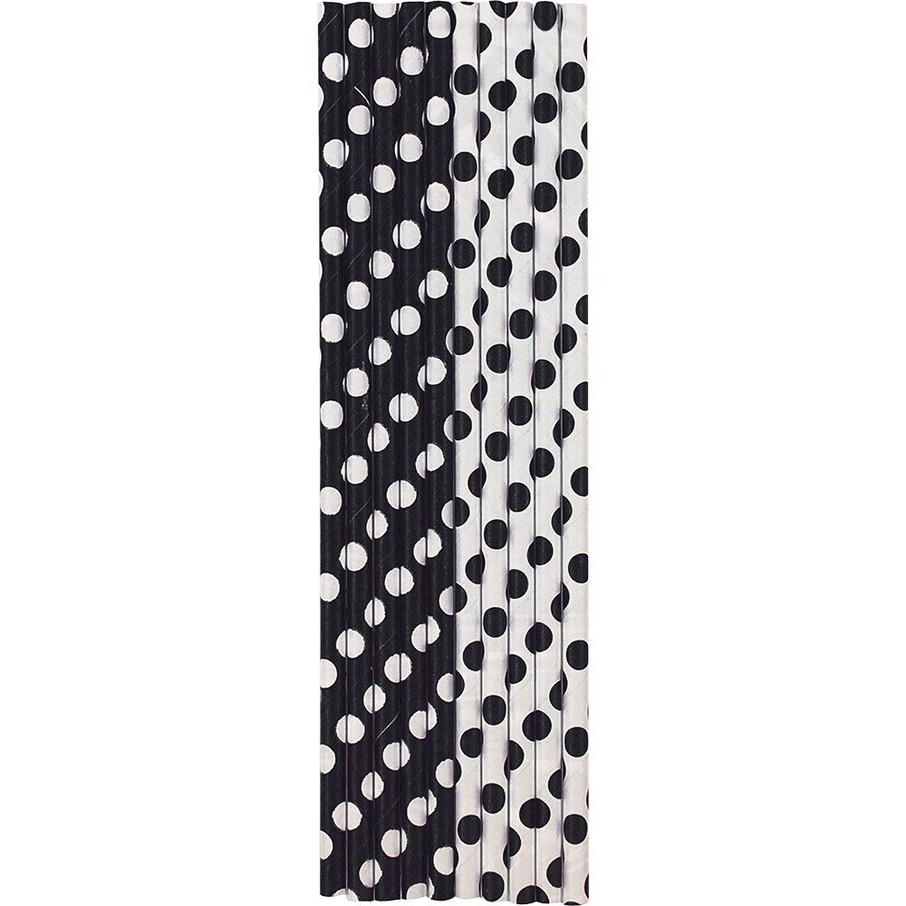 View larger image of Black Dots Paper Straws (10 Count)
