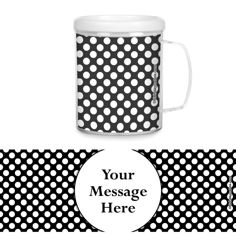 View larger image of Black Dots Personalized Favor Mugs (Each)
