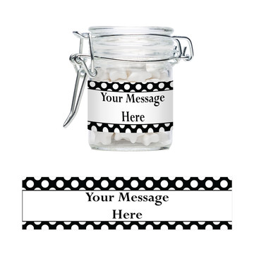 Black Dots Personalized Glass Apothecary Jars (12 Count)
