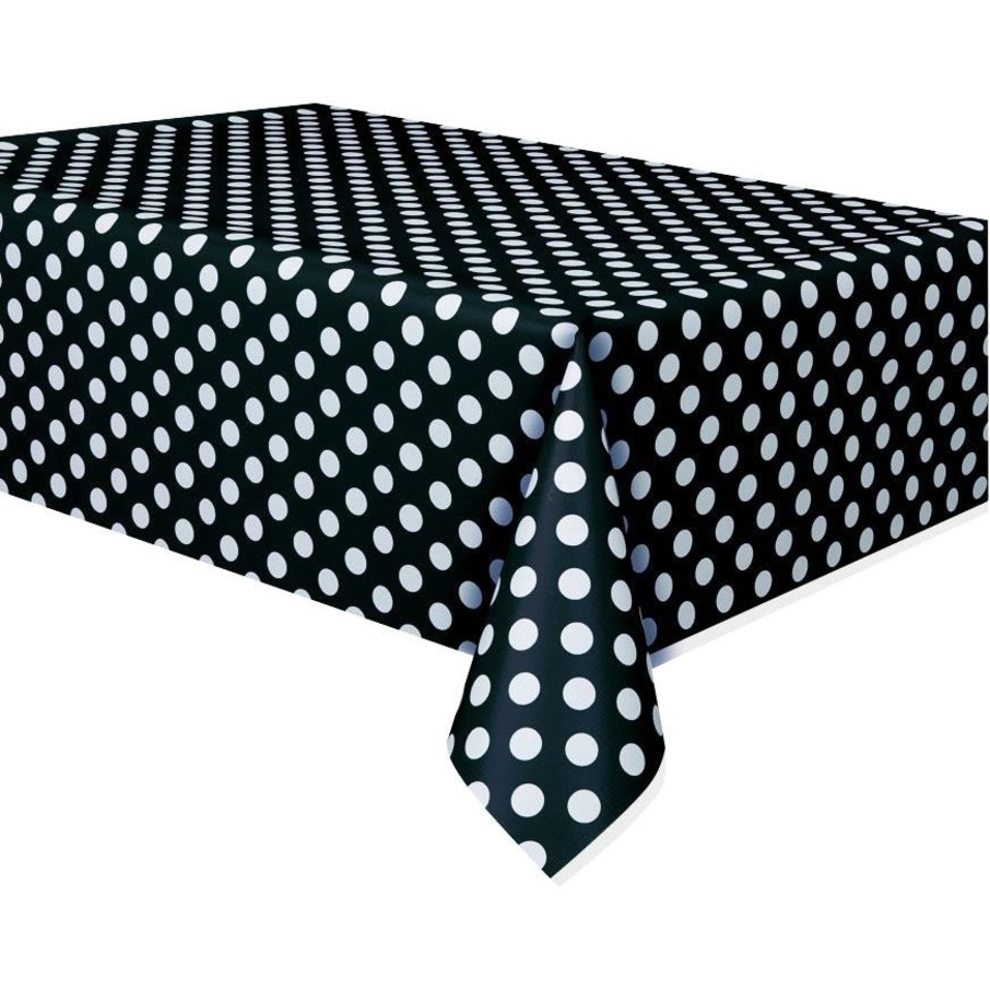 View larger image of Black Dots Table Cover (Each)