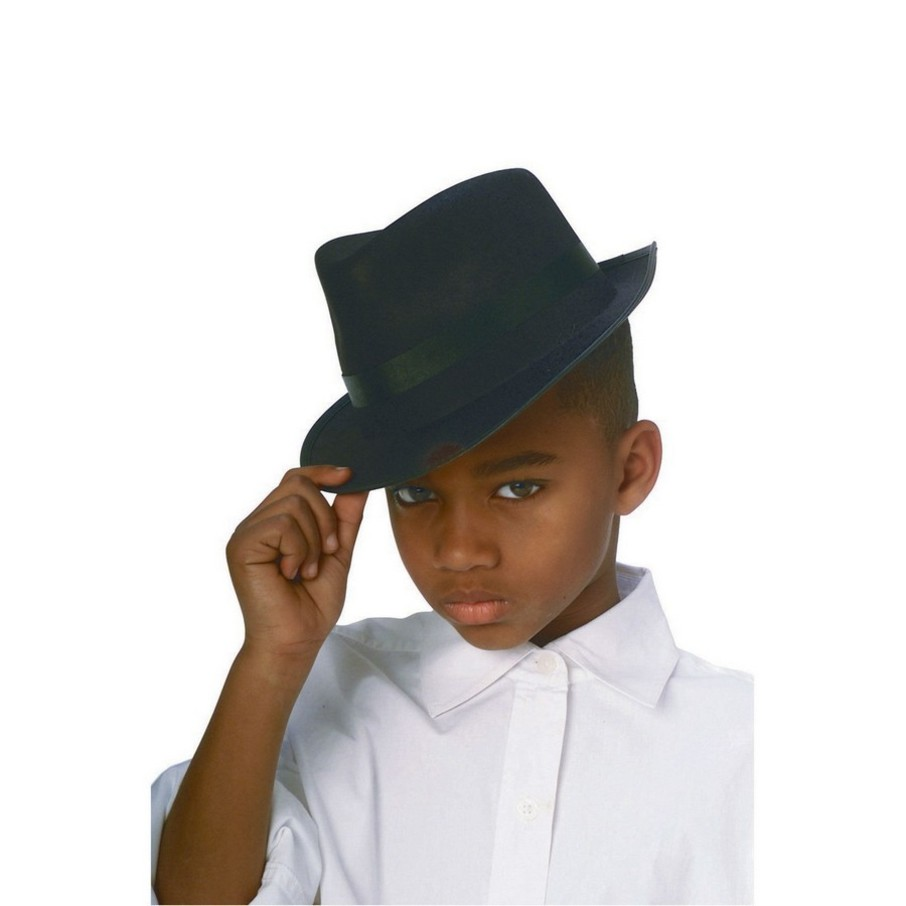 View larger image of Black Durashape Fedora Child Hat