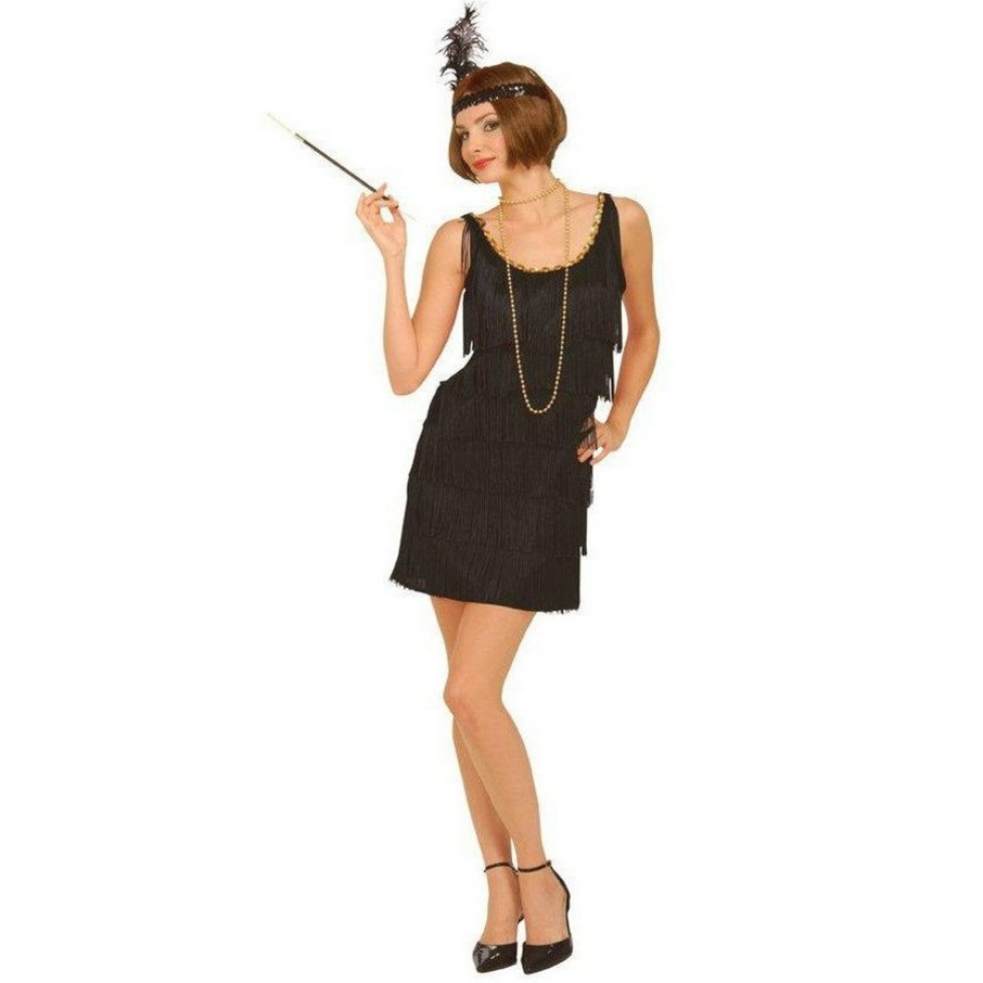 View larger image of Black Flapper Adult Plus Costume