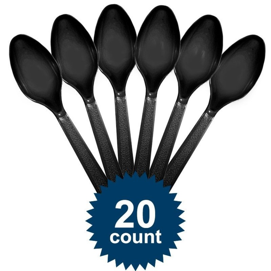 View larger image of Black Plastic Spoons