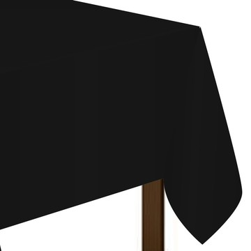 "Black Plastic Tablecover, 54""-108"""