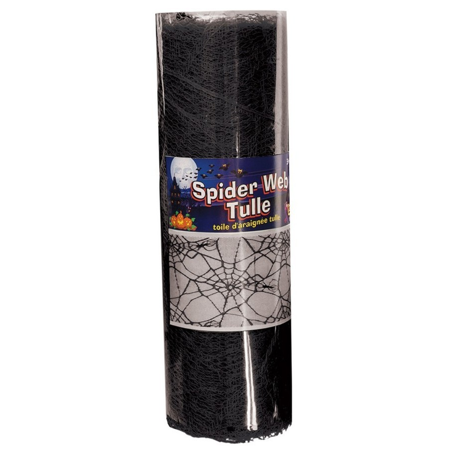 View larger image of Black Spider Web Tulle 5Yds