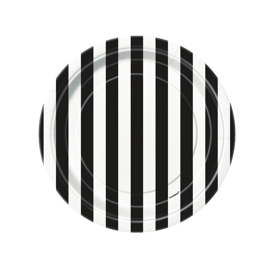 View larger image of Black Stripe Dessert Plates
