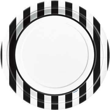 Black Stripe Dinner Plates