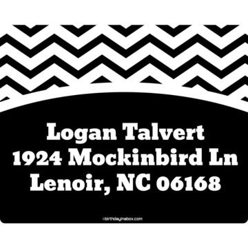 Black/White Chevron Personalized Address Labels (Sheet Of 15)