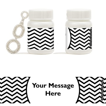 Black/White Chevron Personalized Bubbles (18 Pack)