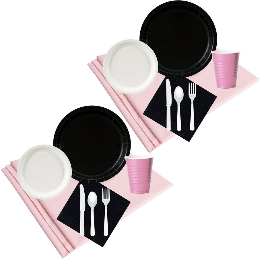 View larger image of Black White Pink Party Pack (48)