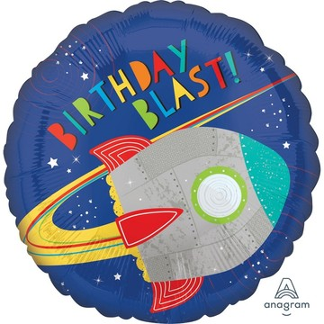 Blast Off Birthday Foil Balloon