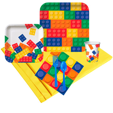 Block Party Birthday Deluxe Tableware Kit (Serves 8)