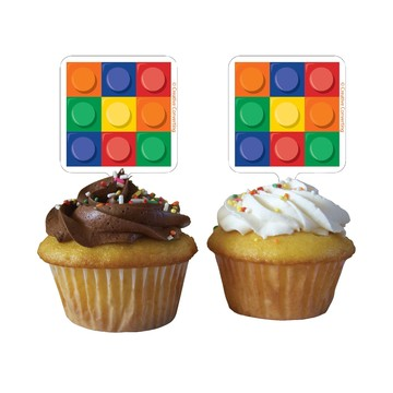Block Party Cupcake Toppers (12 Count)