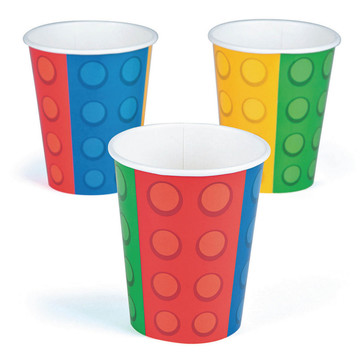 Block Party Paper 9oz Cups (8)