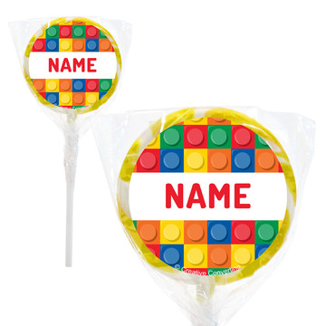 "Block Party Personalized 2"" Lollipops (20 Pack)"