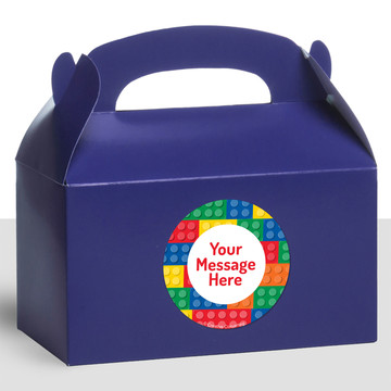 Block Party Personalized Treat Favor Boxes (12 Count)