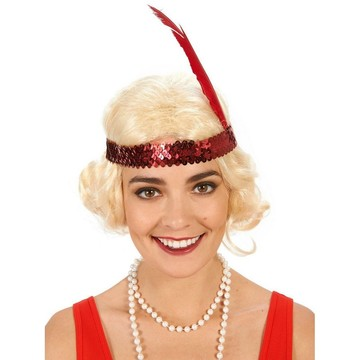 Blonde Flapper with Curls Adult Wig