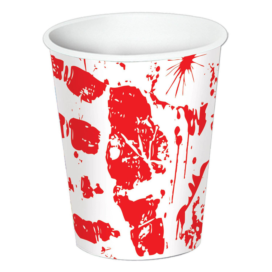 View larger image of Bloody Handprints 9oz Paper Cups (8)