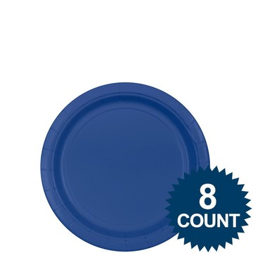 """Blue 7"""" Paper Plate, 8ct."""