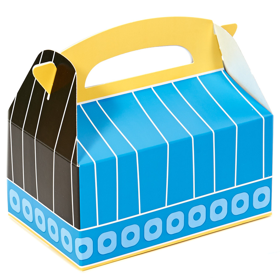 View larger image of Blue, Black and Yellow Empty Favor Boxes (4)