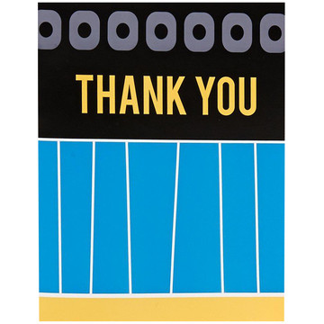 Blue, Black and Yellow Thank You Notes (8)