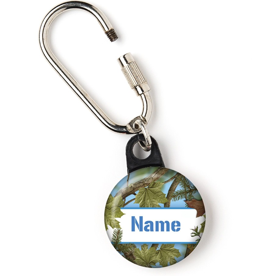 "View larger image of Blue Camo Personalized 1"" Carabiner (Each)"