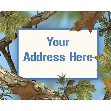Blue Camo Personalized Address Labels (Sheet of 15)