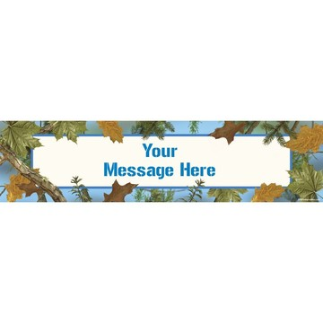 Blue Camo Personalized Banner (Each)