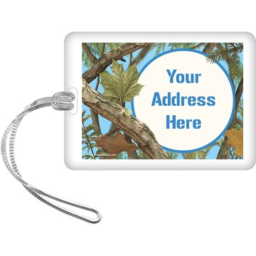 Blue Camo Personalized Luggage Tag (Each)